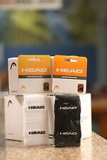 """Head Racquetball Wristband Sweatband White / Black Color, Regular 3"""". Two Pairs"""