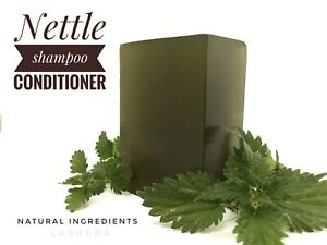 NETTLE SHAMPOO CONDITIONER  BAR -CASTOR OIL -VITAMIN E - EARTH FRIENDLY-SLS FREE
