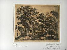 Anthonie Waterloo-La Femme sur le petit pont de bois-Holl. 34-paysage XVIIe s.