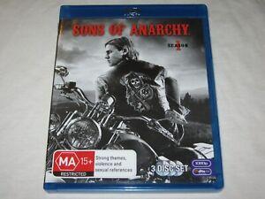 Sons Of Anarchy - Season 1 - 3 Disc Set - VGC - Region B - Blu Ray