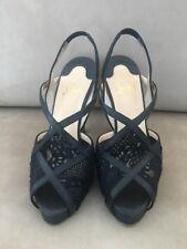 Christian Louboutin Lace Leather Black Sandals Sz 6.5 EU 36.5 Shoes $1195