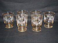 ANCIEN VERRE A VIN DE CHAMPAGNE MOTIF GRANITÉ x 6 / COUPE RAISIN old glass