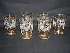 ANCIEN VERRE A VIN DE CHAMPAGNE MOTIF GRANITÉ x 6 / COUPE RAISIN old glass