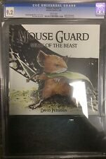 2006 DAVID PETERSEN MOUSE GUARD BELLY OF THE BEAST #1 CGC 9.2! MOVIE! 1ST PRINT!