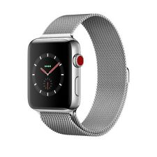 Apple Watch Series 3 42mm Stainless Steel Case with Milanese Loop GPS + Cellular