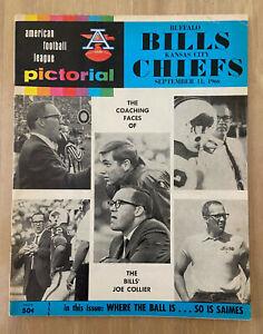 VINTAGE 1966 AFL NFL KANSAS CITY CHIEFS @ BUFFALO BILLS FOOTBALL PROGRAM - SEP11