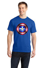 Captain America  T-Shirt, Blues,100%  Cotton  &Blends, Adult's & Kids Sizes