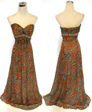 NWT Morrell Maxie $420 Brown /Multi Evening Ball Gown 2