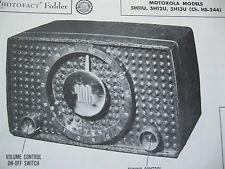 Motorola 5H11U, 5H12U, 5H13U, Hs-244 Radio Photofact