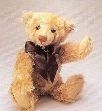 STEIFF  MILLENIUM  TEDDY BEAR  EAN 670374 DARK BLONDE MOHAIR LIMITED EDITION