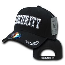 Black Security Officer Guard Agent Adjustable Baseball Ball Cap Hat Caps Hats