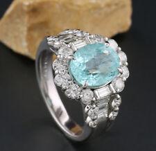 Anillo Paraiba-Turmalin 3,01 Ct Certificado Brillantes Diamantes 1,56 900-platin