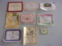 lot Étiquette de vin languedoc roussillon