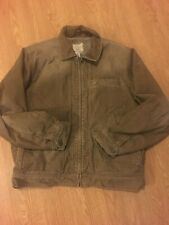 Men's American Eagle Brown Jacket Size Large Corduroy Sherpa Lined