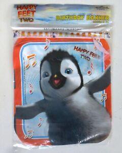 NIP Hallmark Happy Feet Two Birthday Party Banner Penguin Erik Discontinued 2011