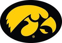 Iowa Hawkeyes NCAA Color Die Cut Vinyl Decal Sticker - You Choose Size