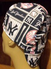 MLB NY Yankees Handmade 100% cotton, Welding, Biker, Pipe-fitter,4 panel hat
