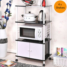 Kitchen Bathroom Laundry Storage Rack Shelf Cupboard Drawers Shelves KRW4S Black