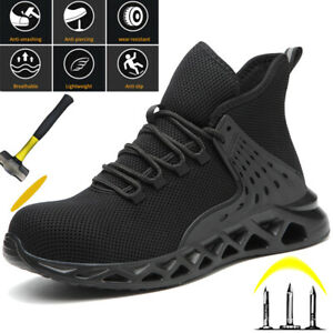 Womens Steel Toe Cap Safety Shoes Work Boots Trainers Hiking Sneaker Walking UK