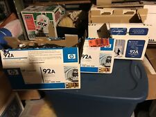 HP 92A -  3 - BRAND NEW Authentic Black Laser Printer Cartridges - Guaranteed!