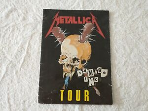 Vintage Metallica Damage INC Tour Concert Program Picture Book Original 1986