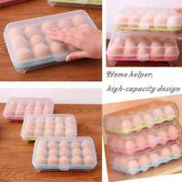 15Gitter Eier Box Kasten Vorratsbehälter Kunststoff Eierkarton I7P5 Kühlsch P7X0