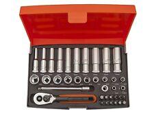 """Set chiave de crick 1/4"""" con 22 bicchieri , 2 adattatori y 12 punte BAHCO SL25L"""