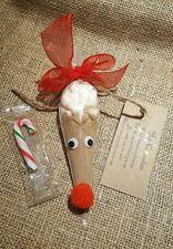 Vigilia di Natale Renna di cioccolata calda CONO Stocking Filler Babbo natale segreto