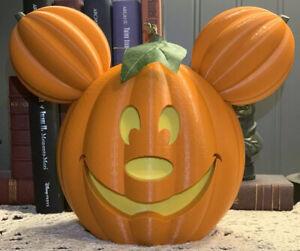 Disney Parks Main Street Mickey Halloween Pumpkin (Dual-sided)