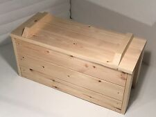 WOODEN BLANKET BOX HAND MADE COUNTRY FARMHOUSE OTTOMAN STORAGE TRUNK CHEST