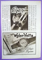 Pubblicita'Advertising Werbung WYLER VETTA/BINOCOLI SAN GIORGIO 1942 no cd (A16)