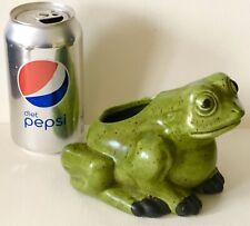 Vintage 1960s Haeger Art Pottery USA Green Tree Frog Toad Flower Planter Vase