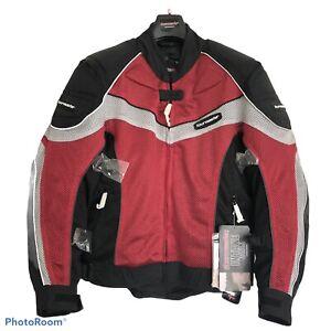 Tourmaster Motorcycle Armor Jacket Intake Series 2 Red/Black Men's Size Small