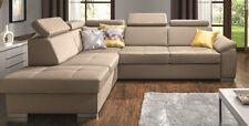 Canapé d'angle FELICIA beige confort moderne avec fonction de sommeil
