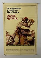 WILD ROVERS Movie Poster (VeryGood) One Sheet 1971 Cowboy Western 5396