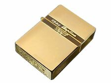 Zippo 1935 Replica Mirror Line Gold Tank Gold Plating Etching Japan Limited F/S