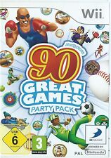 Fête de famille 90 jeux exceptionnels partie PACK = Console Nintendo Wii = âge 3 + = uk = hiver fun = extérieure