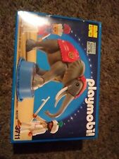 VINTAGE 1992 PLAYMOBIL 3711 ROMANI CIRCUS Jointed Elephant 2 Trainers RARE!