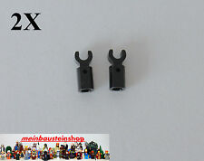 2X Lego® 11090 Stange Halter mit Clip Schwarz, Bar Holder Black NEU