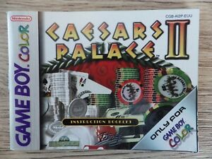 Manual Only Nintendo Game Boy Color Caesars Palace II Booklet Instruction Fr