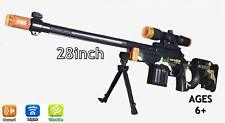 """Light Up Combat Toy Machine Rifle Battery Operated with Military Sound 28"""""""