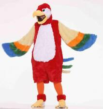 Unisex Adult Deluxe Colorful Parrot Plush Animal Mascot Costume One Size