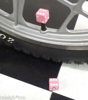 PINK Old School BMX Muscle Bike Freestyle GT Bicycle Dice Valve Caps