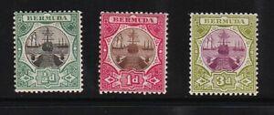 Bermuda - #28-30 mint, cat. $ 31.50