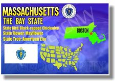 Massachusetts Geography - New U.S State Travel Poster
