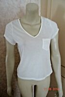 MARKS & SPENCER CREAM LADIES T.SHIRT WITH POCKET BNWT