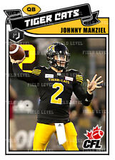 CFL JOHNNY MANZIEL HAMILTON TIGER CATS / BROWNS CUSTOM HAND MADE ART CARD