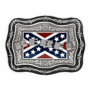 Crumrine Men's Square Vintage Rebel Belt Buckle 38030