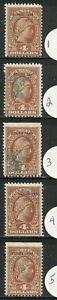 U.S. Revenue Documentary stamps scott r279 - $4.00 overprint issue of 1940 - #5