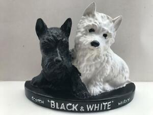 Vintage Black & White Scotch Whisky Advertising Terrier Dogs Display